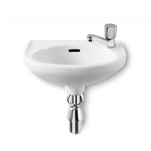 Roca Laura Round Cloakroom Basin - 350mm - Right Handed - 1 Tap Hole - White